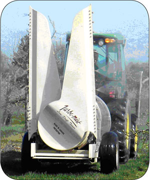 Figure 4. This is a photo of an airblast sprayer with tower attachments