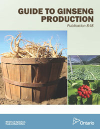 Cover of Pub 848, Guide to Ginseng Production