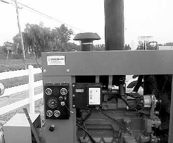 Picture of a receiving unit at the manure pump controlling the pump engine speed