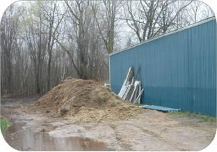 Brown water running off horse manure piles should be contained in storage so it won't reach surface water or groundwater.