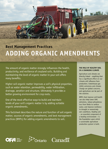 Image of Addming Organic Amendments book