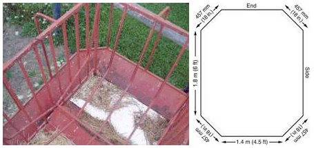 Figure 4. Bottom Tray of a Round-Bale Feeder for Horses