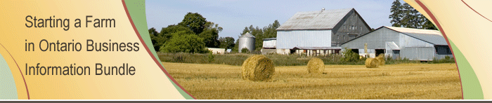 Starting a Farm in Ontario Business Information Bundle